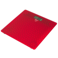 Zilan Ψηφιακή Γυάλινη Ζυγαριά Μπάνιου Κόκκινη ZLN7680-RED -ΠΡΟΣΩΠΙΚΗ ΦΡΟΝΤΙΔΑ
