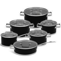 Edenberg Σετ μαγειρικά σκεύη από ανοξείδωτο ατσάλι σε μαύρο χρώμα 12 τμχ EB-4068 -ΕΙΔΗ ΜΑΓΕΙΡΙΚΗΣ - ΚΟΥΖΙΝΑΣ