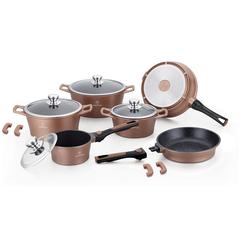Herenthal Σετ αντικολλητικά μαγειρικά σκεύη 14 τμχ σε χάλκινο χρώμα HT-CES2014M-COP -ΕΙΔΗ ΜΑΓΕΙΡΙΚΗΣ - ΚΟΥΖΙΝΑΣ