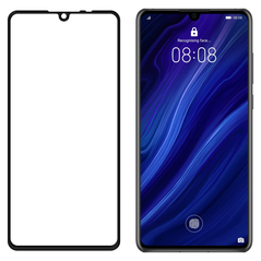 Wozinsky Tempered Glass Full Glue Super Tough Screen Protector Full Coveraged with Frame Case Friendly for Huawei P30 black -Cell phone tempered glass
