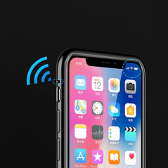 Wozinsky Full Magnetic Case Full Body Front and Back Cover with built-in glass for iPhone 8 Plus / 7 Plus black-transparent -Cell phone cases and covers