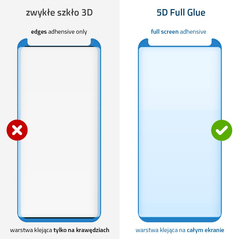 Wozinsky Tempered Glass 5D Full Glue Super Tough Screen Protector Full Coveraged with Frame for Huawei P30 black -Cell phone tempered glass