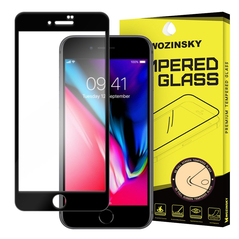 Wozinsky Tempered Glass Full Glue Super Tough Screen Protector Full Coveraged with Frame Case Friendly for iPhone SE 2020 / iPhone 8 / iPhone 7 black -Cell phone tempered glass
