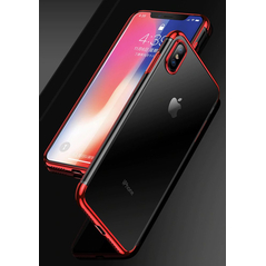 Clear Color Case Gel TPU Electroplating frame Cover for Huawei P30 Lite red -Cell phone cases and covers