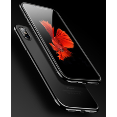 Clear Color Case Gel TPU Electroplating frame Cover for Xiaomi Redmi Note 7 black -Cell phone cases and covers