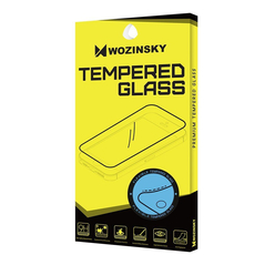 Wozinsky Full Cover Flexi Nano Glass Hybrid Screen Protector with frame for Samsung Galaxy A21S black -Cell phone tempered glass