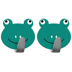 Tatkraft Σετ γαντζάκια πόρτας - κρεμάστρες με αυτοκόλλητο σε σχέδιο βατραχάκια 2 τμχ T20085 -ΕΙΔΗ ΣΠΙΤΙΟΥ
