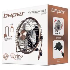 Beper Επιτραπέζιος Ανεμιστήρας με Επίστρωση Χαλκού USB VE.402 -ΕΠΟΧΙΑΚΑ