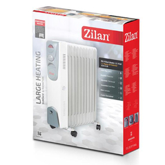 Zilan Ηλεκτρικό τροχήλατο καλοριφέρ λαδιού 9 φέτες 2000W ZLN2111-WHT -ΕΠΟΧΙΑΚΑ