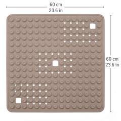 Tatkraft Αντιολισθητικό πατάκι μπάνιου σε γκρι χρώμα 60 x 60 cm T11113 -ΕΙΔΗ ΣΠΙΤΙΟΥ